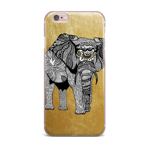 "Pom Graphic Design ""Golden Elephant"" iPhone Case - KESS InHouse"