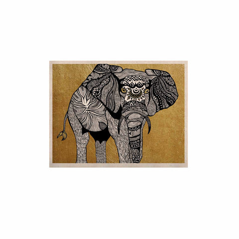 "Pom Graphic Design ""Golden Elephant"" KESS Naturals Canvas (Frame not Included) - KESS InHouse  - 1"