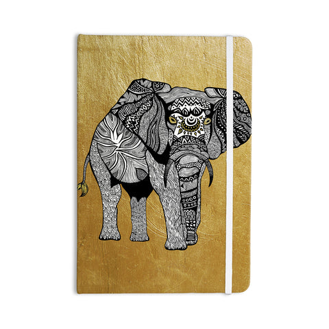 "Pom Graphic Design ""Golden Elephant"" Everything Notebook - KESS InHouse  - 1"