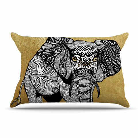 "Pom Graphic Design ""Golden Elephant"" Pillow Sham - KESS InHouse"