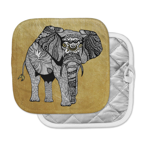 "Pom Graphic Design ""Golden Elephant"" Pot Holder"
