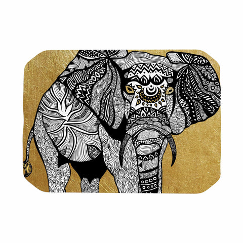 "Pom Graphic Design ""Golden Elephant"" Place Mat - KESS InHouse"