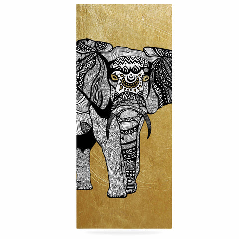 "Pom Graphic Design ""Golden Elephant"" Luxe Rectangle Panel - KESS InHouse  - 1"