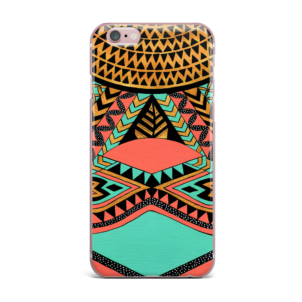 "Pom Graphic Design ""PeruNative"" Gold Coral iPhone Case - KESS InHouse"