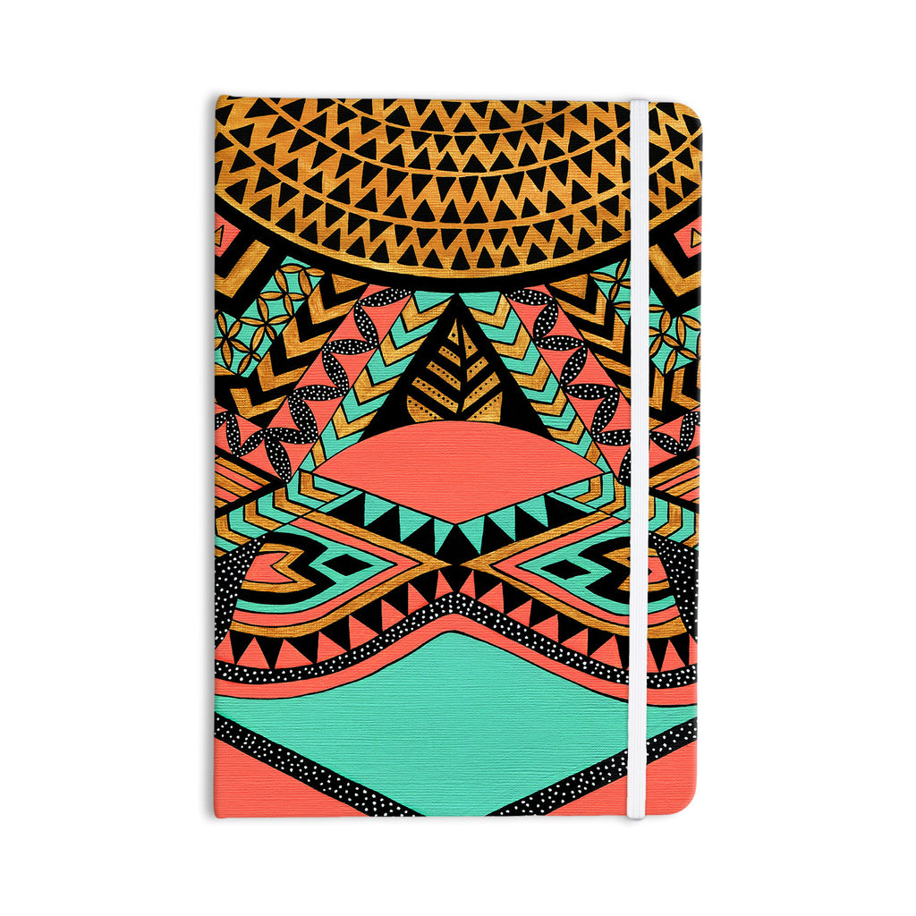 "Pom Graphic Design ""PeruNative"" Gold Coral Everything Notebook - KESS InHouse  - 1"