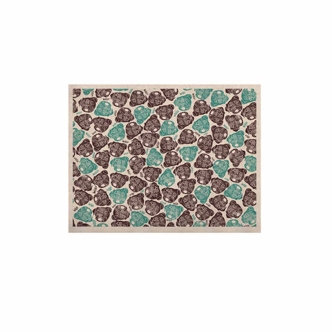 "Pom Graphic Design ""The Barking Pug"" Teal Black KESS Naturals Canvas (Frame not Included)"