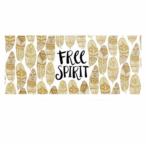 "Pom Graphic Design ""Free Tribal Spirit"" Gold Black Luxe Rectangle Panel"