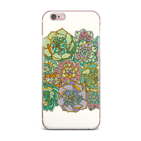 "Pom Graphic Design ""Succulent Love"" Green Orange iPhone Case - KESS InHouse"