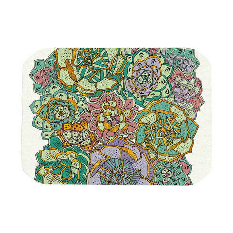 "Pom Graphic Design ""Succulent Love"" Green Orange Place Mat - KESS InHouse"