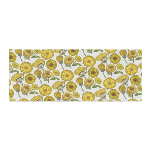 "Pom Graphic Design ""Calendula Flowers"" -Tags Bed Runner - KESS InHouse  - 1"