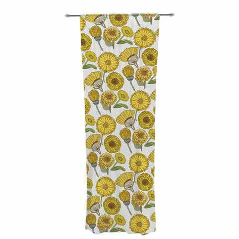 "Pom Graphic Design ""Calendula Flowers"" -Tags Decorative Sheer Curtain - KESS InHouse  - 1"