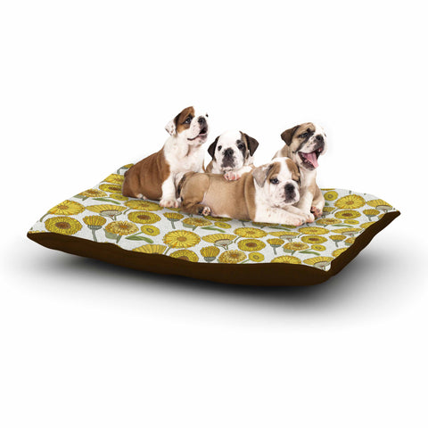 "Pom Graphic Design ""Calendula Flowers"" -Tags Dog Bed - KESS InHouse  - 1"