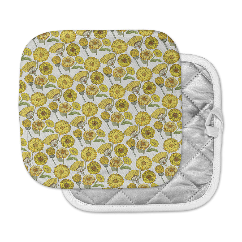 "Pom Graphic Design ""Calendula Flowers"" -Tags Pot Holder"