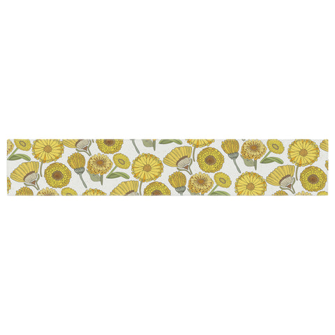 "Pom Graphic Design ""Calendula Flowers"" -Tags Table Runner - KESS InHouse  - 1"