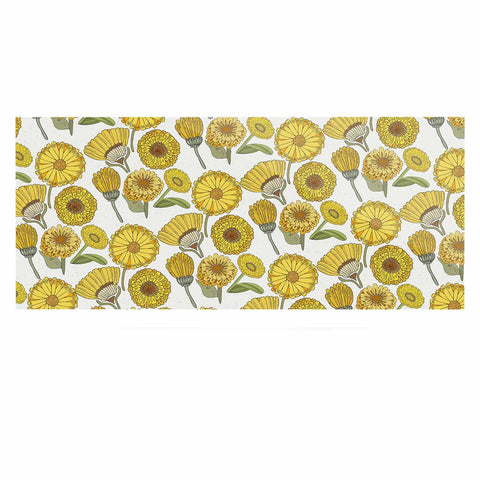 "Pom Graphic Design ""Calendula Flowers"" -Tags Luxe Rectangle Panel - KESS InHouse  - 1"