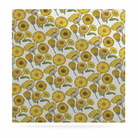 "Pom Graphic Design ""Calendula Flowers"" -Tags Luxe Square Panel - KESS InHouse  - 1"