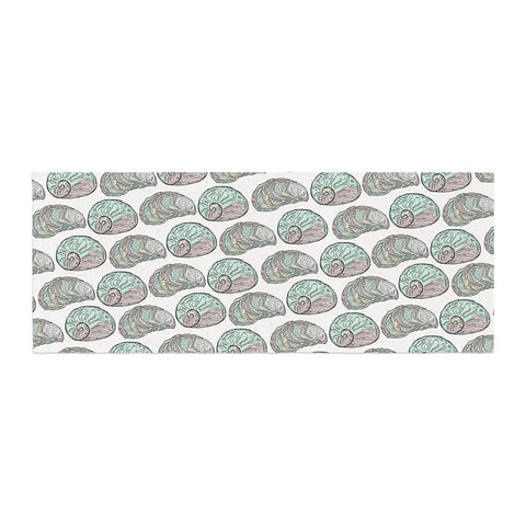 "Pom Graphic Design ""Retro Sea Shells"" Black White Nautical Bed Runner"