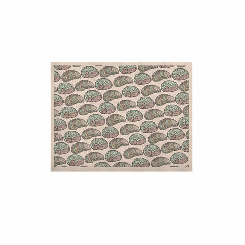 "Pom Graphic Design ""Retro Sea Shells"" Black White Nautical KESS Naturals Canvas (Frame not Included) - KESS InHouse  - 1"