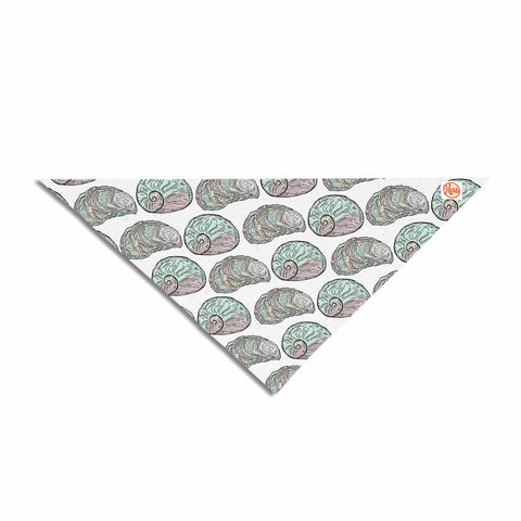 "Pom Graphic Design ""Retro Sea Shells"" Black White Nautical Pet Bandana"