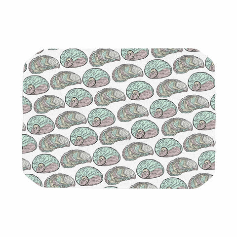 "Pom Graphic Design ""Retro Sea Shells"" Black White Nautical Place Mat - KESS InHouse"