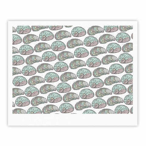 "Pom Graphic Design ""Retro Sea Shells"" Black White Nautical Fine Art Gallery Print"