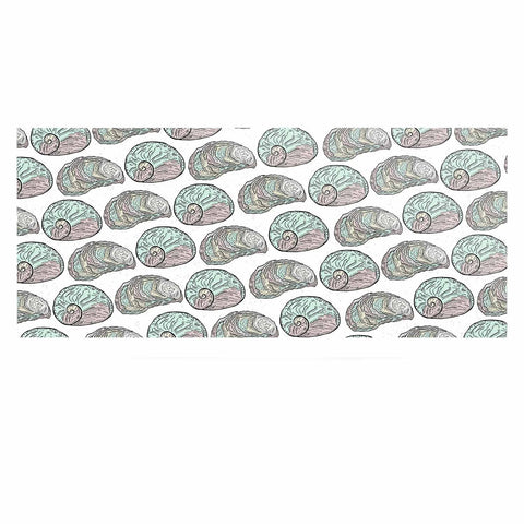 "Pom Graphic Design ""Retro Sea Shells"" Black White Nautical Luxe Rectangle Panel - KESS InHouse  - 1"