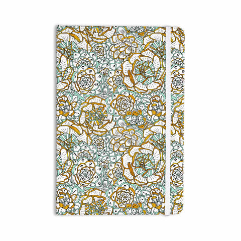 "Pom Graphic Design ""Succulents Paradise"" Black Gold Vintage Illustration Everything Notebook - KESS InHouse  - 1"