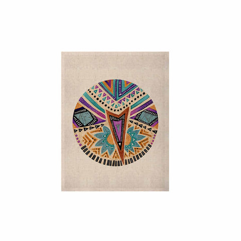 "Pom Graphic Design ""Multicultural Icon"" Teal Gold Abstract Geometric KESS Naturals Canvas (Frame not Included)"