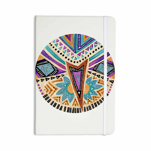 "Pom Graphic Design ""Multicultural Icon"" Teal Gold Abstract Geometric Everything Notebook - KESS InHouse  - 1"