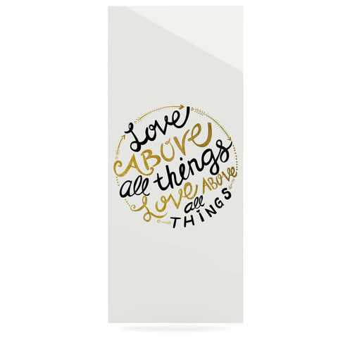 "Pom Graphic Design ""Love Above All Things"" Black Gold Vector Typography Luxe Rectangle Panel"