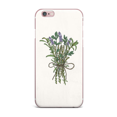 "Pom Graphic Design ""Herbal Bunch Of Love"" Lavender Green Illustration iPhone Case - KESS InHouse"