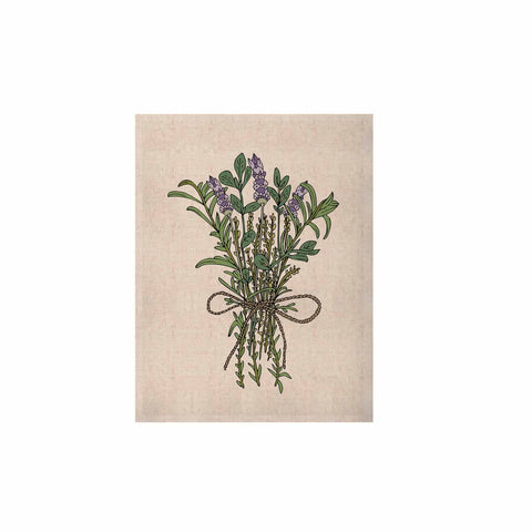 "Pom Graphic Design ""Herbal Bunch Of Love"" Lavender Green Illustration KESS Naturals Canvas (Frame not Included)"