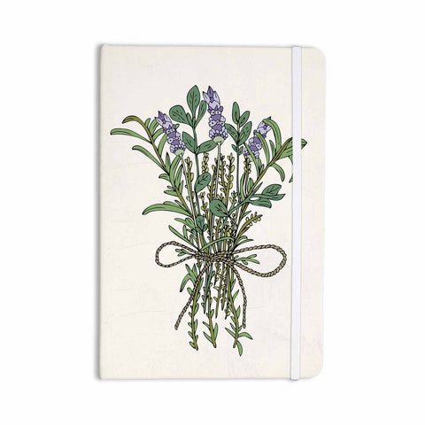 "Pom Graphic Design ""Herbal Bunch Of Love"" Lavender Green Illustration Everything Notebook - KESS InHouse  - 1"