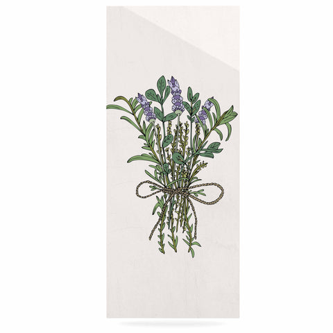 "Pom Graphic Design ""Herbal Bunch Of Love"" Lavender Green Illustration Luxe Rectangle Panel"