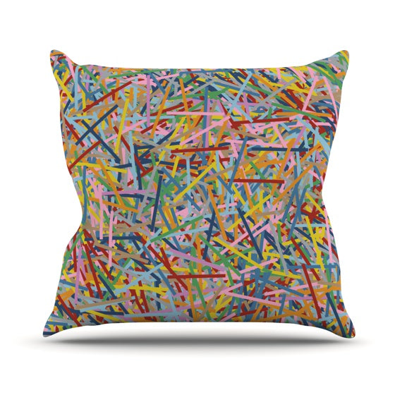 "Project M ""More Sprinkles"" Throw Pillow - KESS InHouse  - 1"