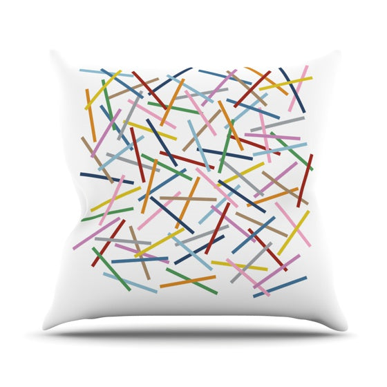 "Project M ""Sprinkles"" Throw Pillow - KESS InHouse  - 1"