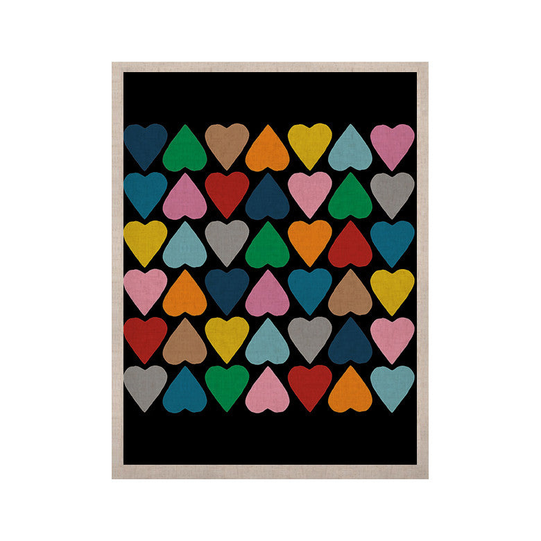 "Project M ""Up and Down Hearts on Black"" KESS Naturals Canvas (Frame not Included) - KESS InHouse  - 1"