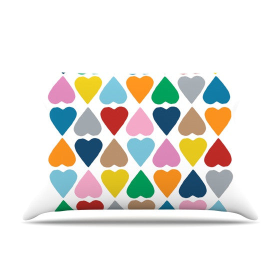 "Project M ""Diamond Hearts"" Pillow Sham - KESS InHouse"