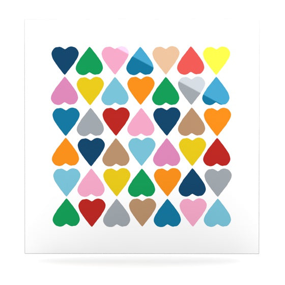 "Project M ""Diamond Hearts"" Luxe Square Panel - KESS InHouse  - 1"