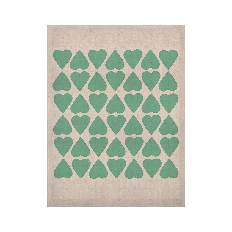 "Project M ""Mint Diamond Hearts"" KESS Naturals Canvas (Frame not Included) - KESS InHouse  - 1"