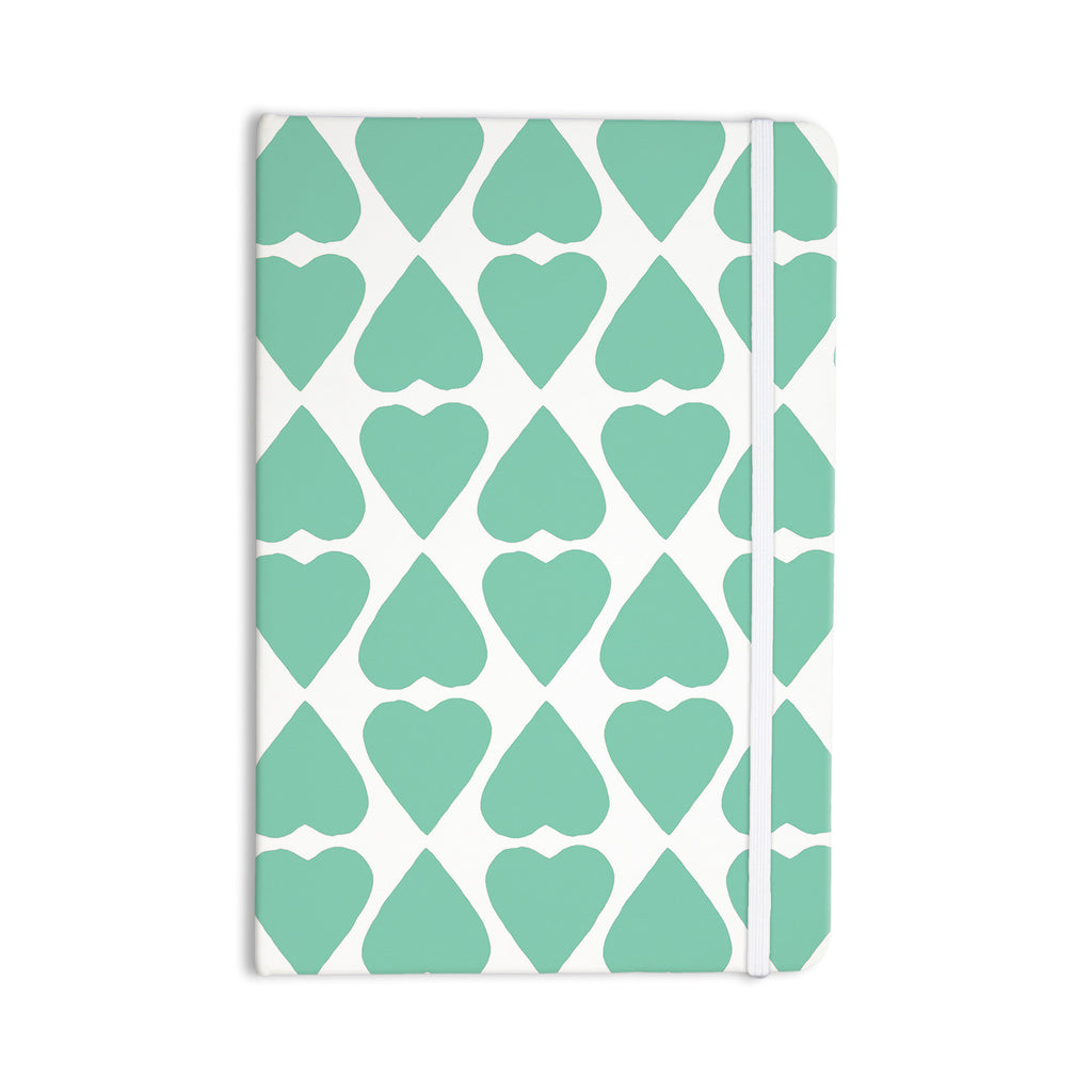 "Project M ""Mint Diamond Hearts"" Everything Notebook - KESS InHouse  - 1"