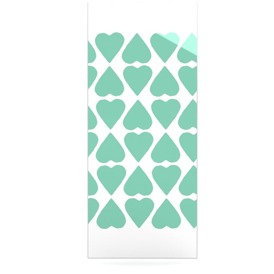 "Project M ""Mint Diamond Hearts"" Luxe Rectangle Panel - KESS InHouse  - 1"