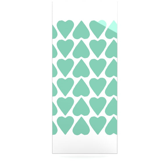 "Project M ""Mint Up and Down Hearts"" Luxe Rectangle Panel - KESS InHouse  - 1"