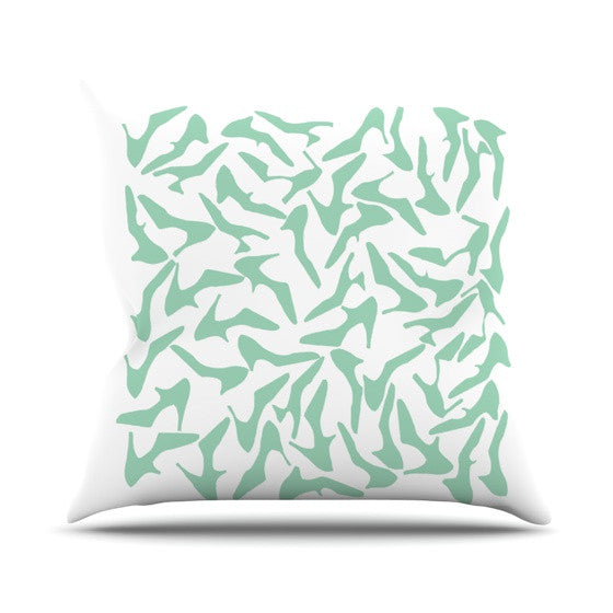 "Project M ""Shoe Mint"" Outdoor Throw Pillow - KESS InHouse  - 1"