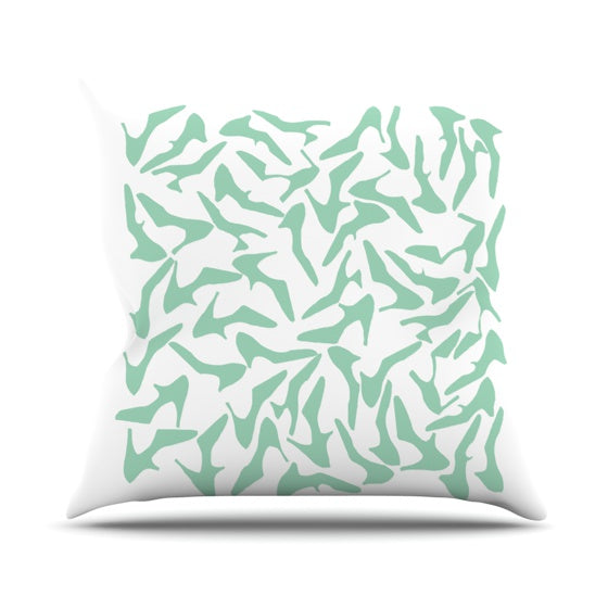 "Project M ""Shoe Mint"" Throw Pillow - KESS InHouse  - 1"
