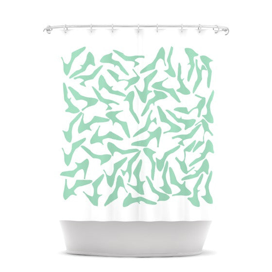 "Project M ""Shoe Mint"" Shower Curtain - KESS InHouse"