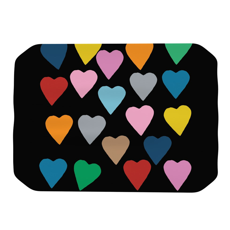 "Project M ""Hearts Colour on Black"" Place Mat - KESS InHouse"