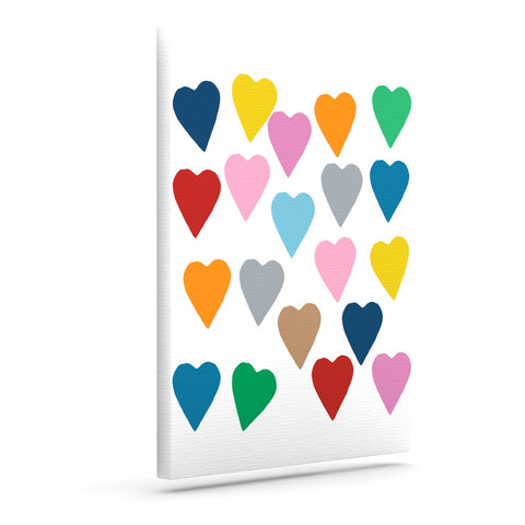 "Project M ""Colorful Hearts""  Art Canvas - Outlet Item"
