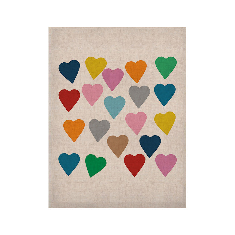 "Project M ""Colorful Hearts"" KESS Naturals Canvas (Frame not Included) - KESS InHouse  - 1"