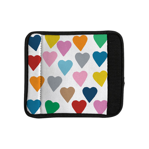 "Project M ""Colorful Hearts"" Luggage Handle Wrap - Outlet Item - KESS InHouse"